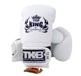 TOP KING トップキング キック ボクシンググローブ 14オンス 白 white