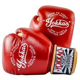 YOKKAO ヨッカオ ムエタイグローブ Vintage Boxing Red ヴィンテージモデル 8オンス レッド
