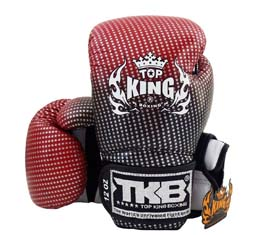 TOP KING トップキング キック ボクシンググローブ 14オンス スーパースター Red 赤